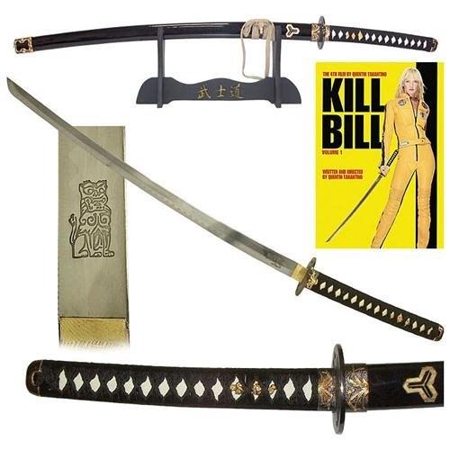 Whetstone Cutlery Kill Bill Katana Sword with Display Stand