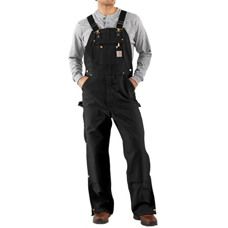 Carhartt Unlined Dual Hammer Loop Duck Bib Overalls - Factory Seconds (for Men)