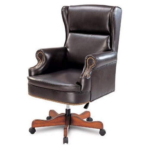Traditional Style Nail Head Trim Black Adjustable Office Chair