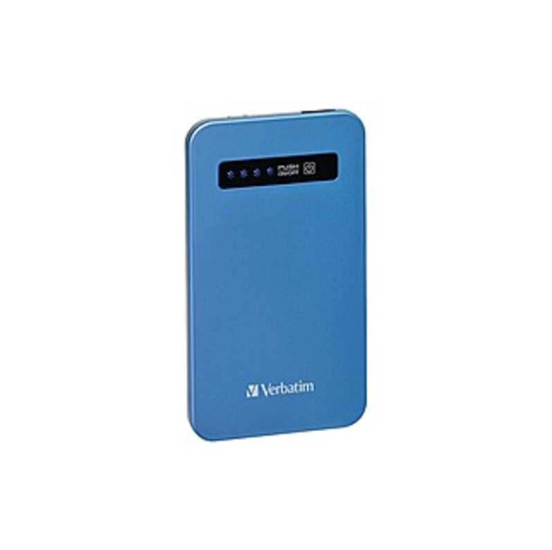 Verbatim Ultra-slim Power Pack, 4200mah - Aqua Blue