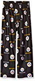 NFL Pittsburgh Steelers Boys 4-7 Sleepwear All Over Print Pants, Small (4), Black