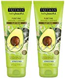 Freeman Feeling Beautiful Facial Clay Masque Avocado & Oatmeal 6 oz (Pack of 2)
