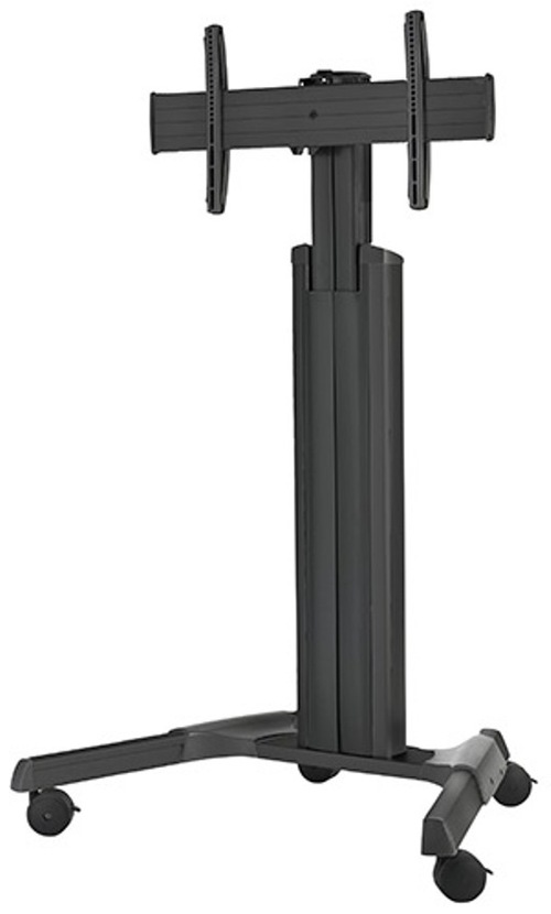 Chief Large Fusion Lpaub Manual Height Adjustable Mobile Cart For Video Conferencing System - Black