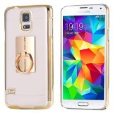 Samsung Galaxy Note 5 Ring Stand Case-Aurora® Soft Slim TPU Case Cover for Samsung Galaxy Note 5 with 360 Degree Rotating Ring Stand (Samsung Note 5 Gold)