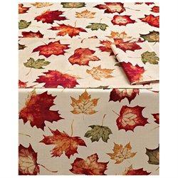 Cedar Brook Autumn Leaves Fabric Tablecloth Leaf Table Cloth 60X84 Ob