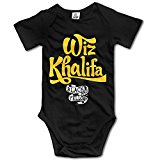 Wiz Khalifa Black And Yellow Logo Boys Girls Baby Onesie Bodysuit Organic
