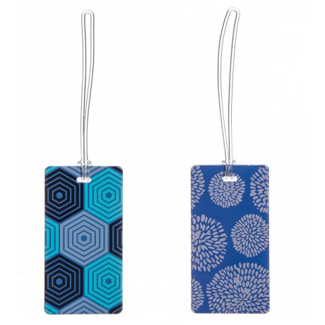 Hex And Blossom Luggage Tag Set - 2-piece