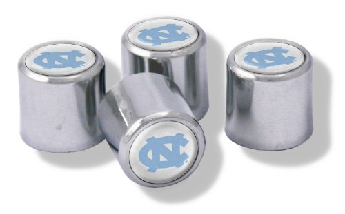 NCAA North Carolina Tar Heels Metal Tire Valve Stem Caps, 4-Pack