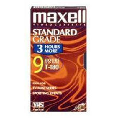 Maxell 213027 Gx-silver T-180 Vhs Tape 180min
