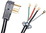 Certified Appliance Accessories 4-Wire Closed-Eyelet 40-Amp Range Cord, 4ft
