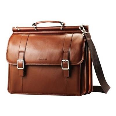 Samsonite 53228-1847 Leather Dowel Flapover Business Case - Notebook Carrying Case - 15.6