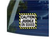 Caution Judge On Board Sticker - 5