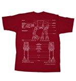 Fifth Sun Star Wars AT-AT Walker Mens Red T-Shirt (Large)