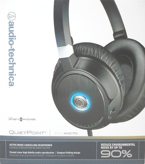 Audio-technica Quietpoint Active Noise-cancelling Headphones - Stereo - Black - Mini-phone - Wired - 570 Ohm - 10 Hz - 25 Khz - Over-the-head - Binaur