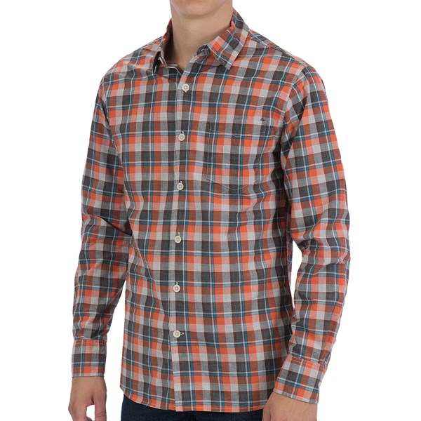 Martin Gordon Loosely Woven Cotton Sport Shirt - Long Sleeve (For Men)