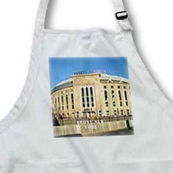 Yankee Stadium Built in 1923 Bronx New York - BLACK Full Length Apron With Pockets 22w X 30l