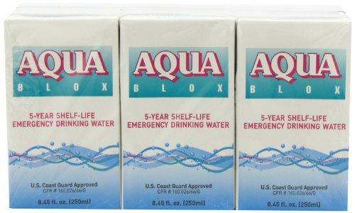 Aqua Blox 5 Year Shelf-Life Emergency Drinking Water, 8.45 Ounce (Pack of 24)