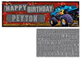 Creative Converting Mudslinger Giant Party Banner with Stickers