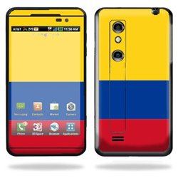 Protective Vinyl Skin Decal Cover for LG Thrill 4G Cell Phone Sticker Skins Columbian Flag