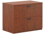 basyx BL2171A1A1 BL Laminate Two-Drawer Lateral File, 35-3/4w x 22d x 29h, Medium Cherry