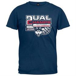 UCONN Huskies - 2014 NCAA Official Men's & Women's Dual Champs T-Shirt