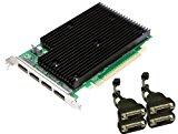 NVIDIA Quadro NVS 450 by PNY 512MB GDDR3 PCI Express Gen 2 x16 Quad DisplayPort or DVI-D SL Profesional Business Graphics Board, VCQ450NVS-X16-DVI-PB