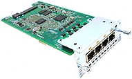 P  b These flexible interface cards support multiple integrated data, voice, and video applications, facilitating the migration from data only as well as circuit switched voice and video services to a packet voice and video solution