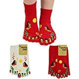 kilofly Japanese Kimono Girl Full Toe Tube Socks Value Pack, Set of 2 Pairs