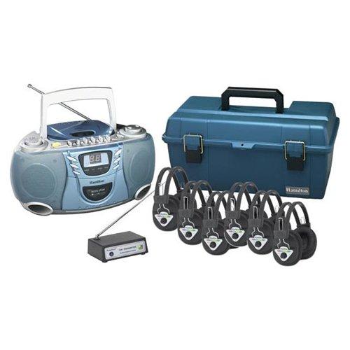 Hamilton Electronics LCP-CD385-906 Val-U-Pack Wireless CD Listening Center 6 station