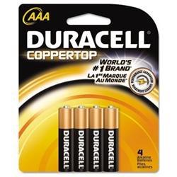 Duracell MN2400B4Z, Duracell Coppertop Alkaline AAA Batteries, DURMN2400B4Z, DUR MN2400B4Z