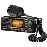 Full Featured Fixed Mount VHF Marine Radio Black