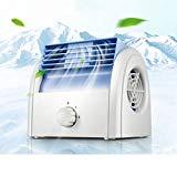 Air Cooler Mini Electric Fan, Air Conditioner Air Circulator Table Fan Mini Portable Hand-held Bladeless Cool Fan For Desktop Powerpc Laptop Fan Notebook Tablet Desk Table (Color : Blue)