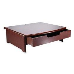 Rolodex 82436 Wood Tones Monitor Stand, 15W X 13D, Mahogany