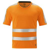 Snickers High Visibility T Shirt Class 2/3 Orange XS