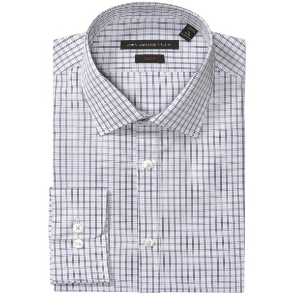 John Varvatos Star USA Slim Fit Check Dress Shirt - Long Sleeve (For Men)