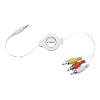Retractable Television Cable For Ipod - Video / Audio Cable - 5 Ft