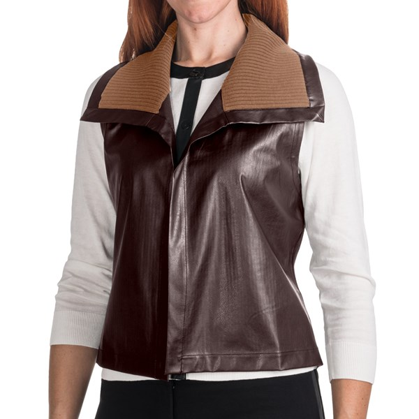 August Silk Pleather Vest (for Women)