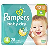 Diapers Size 4, 28 Count - Pampers Baby Dry Disposable Baby Diapers, Jumbo