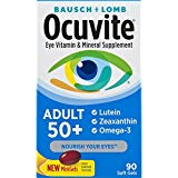 Bausch   Lomb Ocuvite Adult 50  Vitamin & Mineral Supplement with Lutein, Zeaxanthin, and Omega-3, Soft Gels, 90-Count