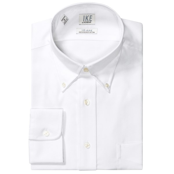 Ike By Ike Behar No-iron Solid Twill Dress Shirt - Button-down, Long Sleeve (for Men)