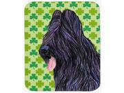Briard St. Patrick's Day Shamrock Portrait Mouse Pad, Hot Pad Or Trivet