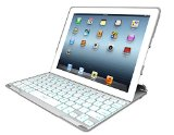 ZAGG  PROfolio  Ultrathin Case with Backlit Bluetooth Keyboard for iPad 2/3/4-White