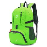 Sunhiker 35L Foldable Water Resistant Hiking Backpack and Folding Handy Lightweight Running Cycling Backpack Daypack and Climbing Camping Outdoor Sports Travel Backpack Bag and Backpack for Travel Hiking Climbing Running Cycling Camping Outdoor Sports M623 (Green)