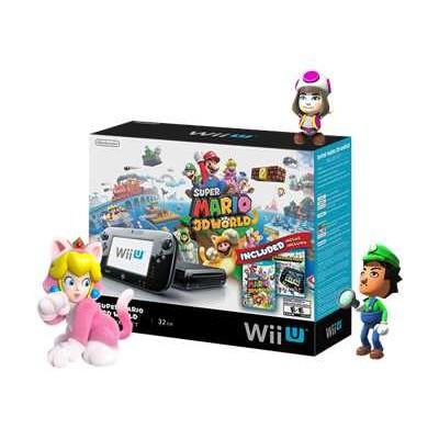 Nintendo Wupskagf Wii U - Super Mario 3d World Deluxe Set - Game Console - 32 Gb Flash - Black -  Land  Super Mario 3d World