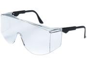 Crews TC110XL Tacoma Wraparound Safety Glasses, Black Frames, Clear Lenses