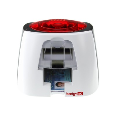 Evolis B12u0000rs Badgy 100 - Plastic Card Printer - Color - Dye Sublimation/thermal Transfer - Cr-80 Card (3.37 In X 2.13 In) - Up To 225 Cards/hour (mono) / U