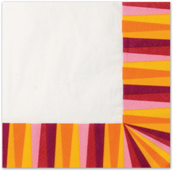 Italian Tableware - Party Stripe Dinner Napkins