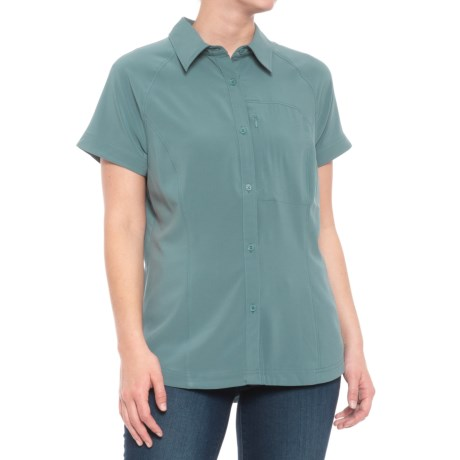 Stretch Micro Ripstop Knit Shirt - Short Sleeve (for Women)