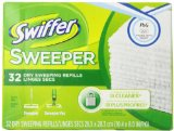 Swiffer Dry Refill System, Cloth, White, 32/Box PAG33407BX