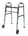 Lumex Lum716270b-1 Folding Walker With Wheels
